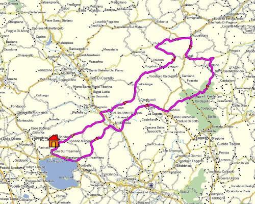 Cabrio Vakantie Italie, Marche kaart