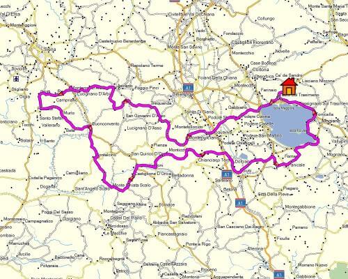 Cabrio Vakantie Italie, Toscane II kaart
